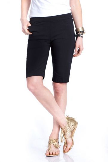 Multiples Black Ladys Solid Walking Short M2632W