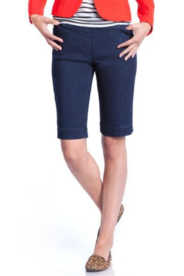 Multiples Denim Ladys Solid Walking Short M2632W