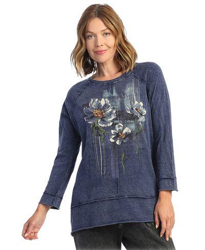 Jess & Jane Plus Size Denim Poetry Cotton Tunic M63-1635X
