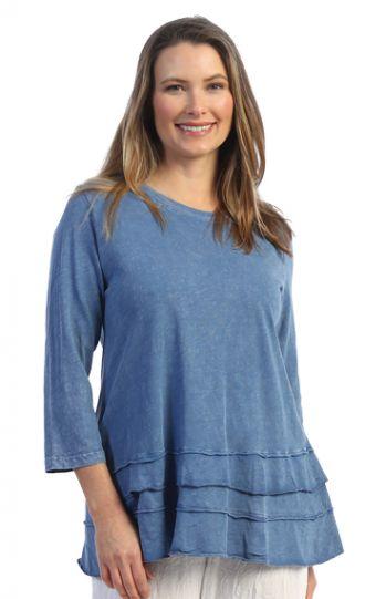 Jess & Jane Plus Size Marn Mineral Cotton Tunic M66X
