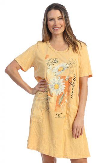 Jess & Jane Plus Size Wheat Mellow Cotton Dress M78-1605X