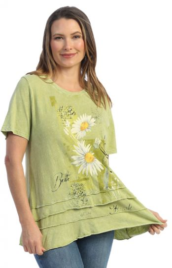 Jess & Jane Plus Size Cactus Mellow Cotton Tunic M82-1605X