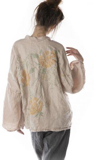 Magnolia Pearl Lilac Water Linen Clodia Floral Kimono 364