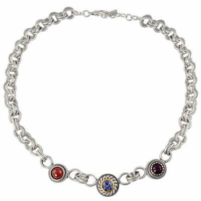 Patricia Locke Silver Troika Necklace NK0607S