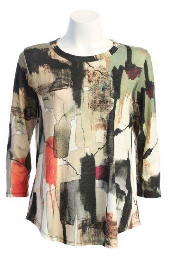 Jess & Jane Plus Size Multi Natura Tunic PS1-1431X