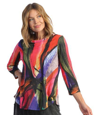 Jess & Jane Plus Size Multi Vera Tunic PS1-1656X