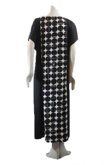 Q'Neel Black/White Dot Pullover Dress 88235