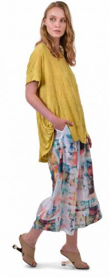 Alembika Yellow Crinkled Tee ST235Y