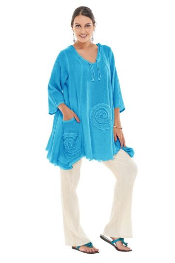 Oh My Gauze Ocean Circle Pullover Tunic