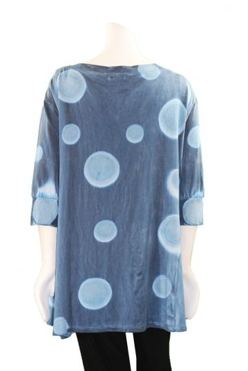 Annie Turbin Blue Pullover Style Tunic TEB
