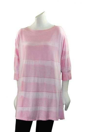 Annie Turbin Pink Pullover Style Tunic TEB