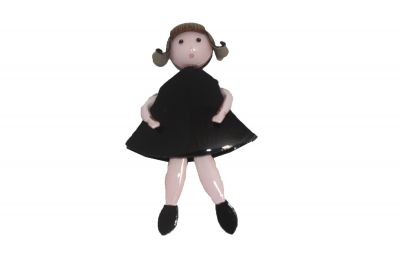 Francoise Montague Girl in Dress Black Tifille