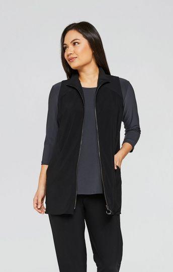 Sympli Plus Size Black Motion Vest 21190