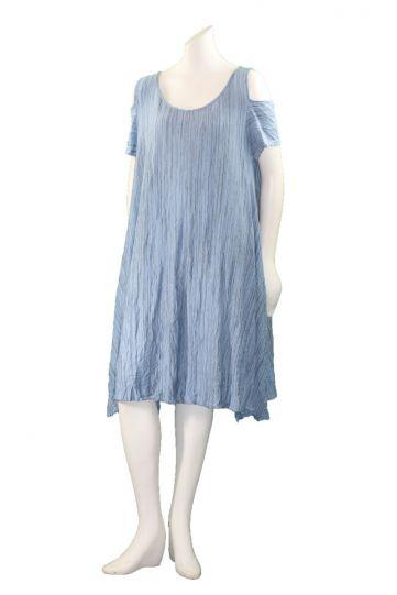 Comfy Plus Size Sofia Print Crinkle Janet Dress WC333P