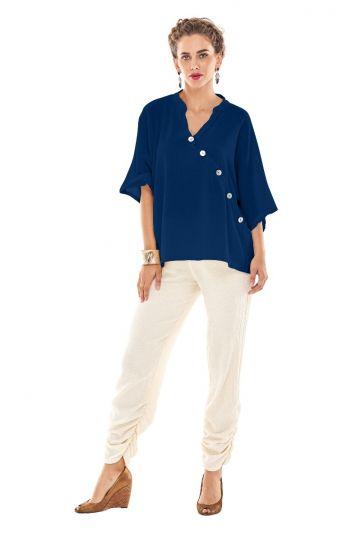 Oh My Gauze Sapphire Button Shirt