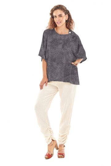 Oh My Gauze Washed Black Athena Top
