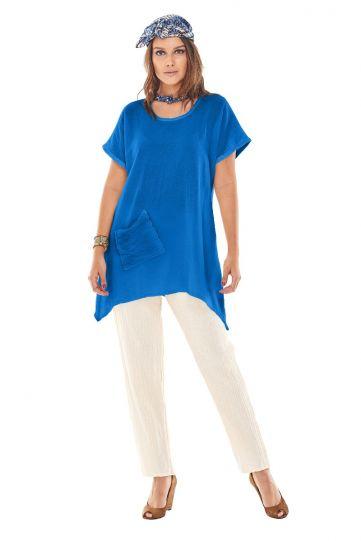Oh My Gauze Blueberry Top with Pocket Faith