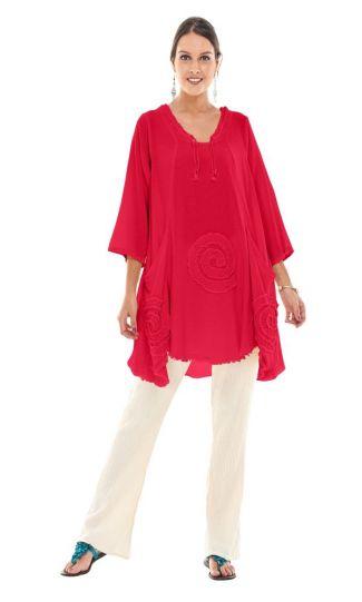 Oh My Gauze Crimson Circle Tunic