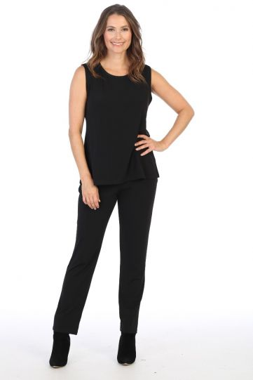 Jess & Jane Plus Size Black Basic Pant Y2