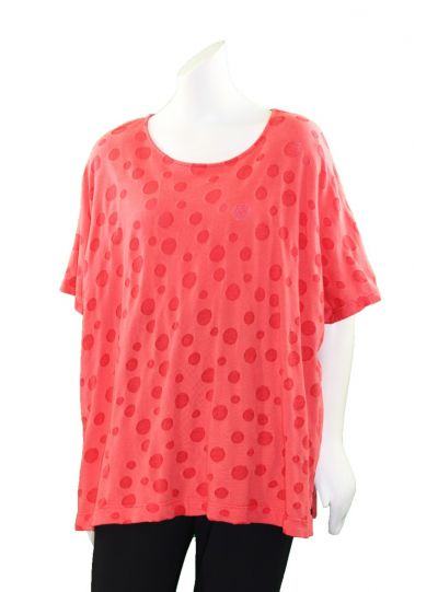 Cut Loose Over Sized Polka Dot Short Top 0886374