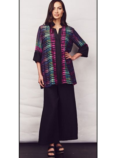 Dressori Plus Size Multi Swing Shirt Blouse W1026SR18-02