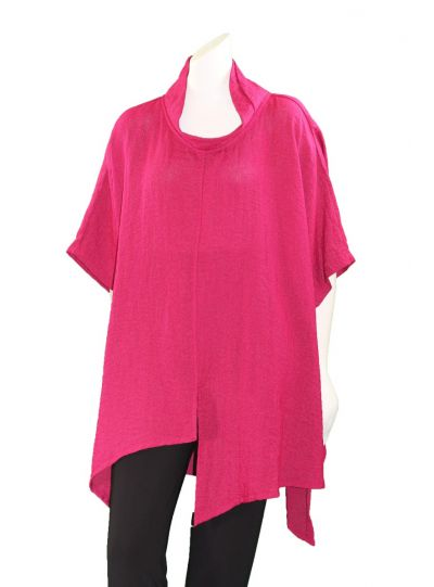 Gerties One Size Dark Raspberry Asymmetric Tunic 1100-2056