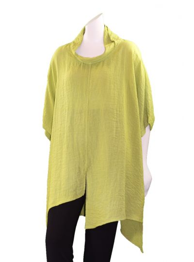 Gerties One Size Lime Asymmetric Tunic 1100-2056