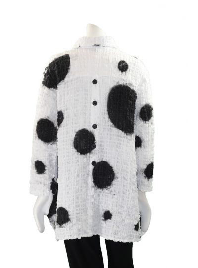 Dress to Kill One Size Air Brush Dots Crushed Shirt 124D