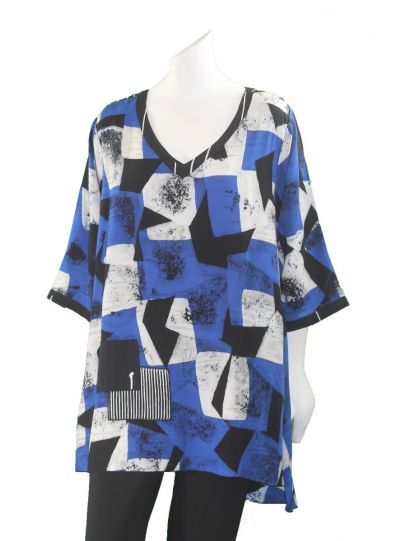 Lyng Designs Plus Size Cobalt Joy Top 1504