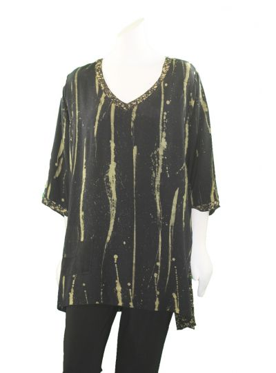 Lyng Designs Plus Size Brass Joy Polt Tunic 1504