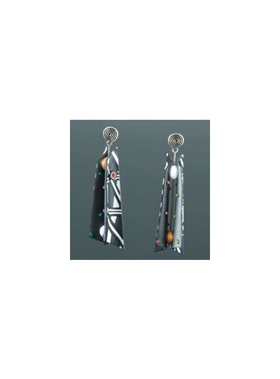 Arden Bardol Black/White Multi Razor Earring