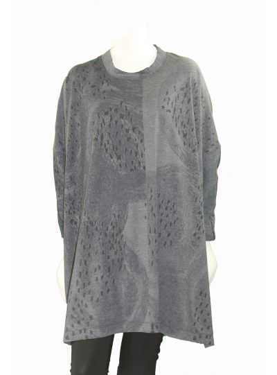 Moyuru Blue Combo Pullover Over Sized Tunic 173418