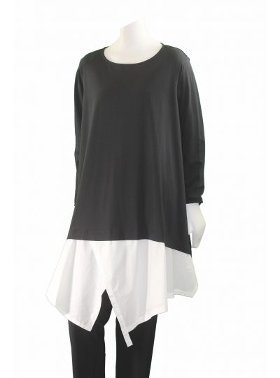 Moyuru Black/White Pullover Tunic 173600