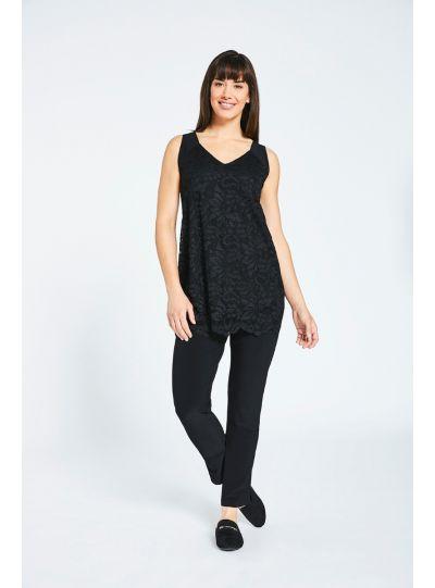 Sympli Black Lace Reversible Cami 3131