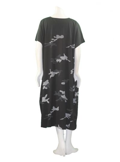 Moyuru Black/White Puzzle Pullover Dress 183016