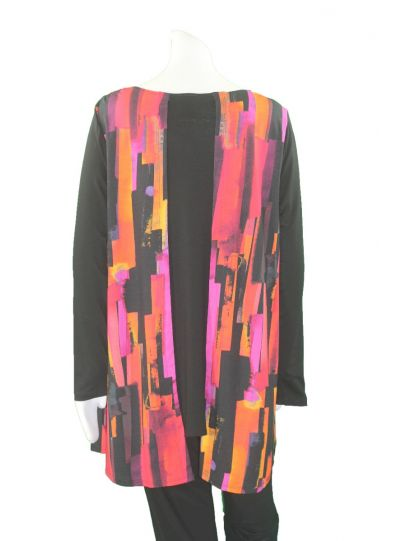 Libra & J Plus Size Printed Pullover Style Tunic 26329X