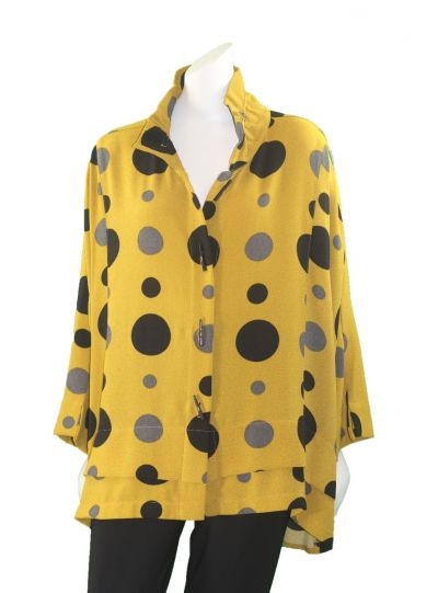 Moonlight Must/Black Polka Dot Button Jacket 2694