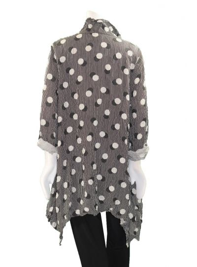 Moonlight Black/White Shadow Dot 2 Pocket Shirt 2717POK