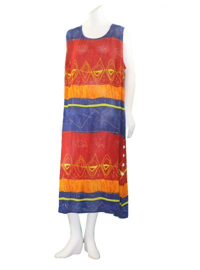 La Cera Plus Size Multi Color Printed Sleeveless Dress 2728XL