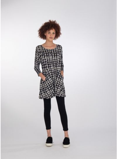Niche Houndstooth 2 Pocket Orbit Tunic 81586