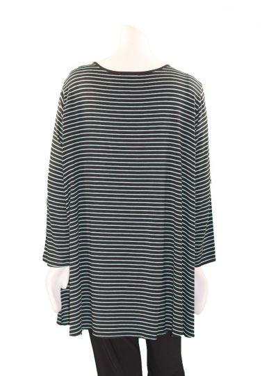 Comfy Plus Size Jade Striped Eva Top M894