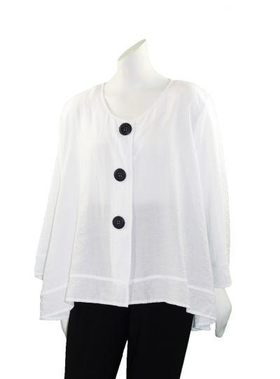 Comfy Plus Size White Abigail Jacket RN103