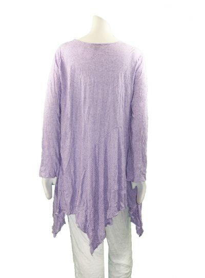 Comfy Plus Size Violet Crinkle Dee Tunic C626