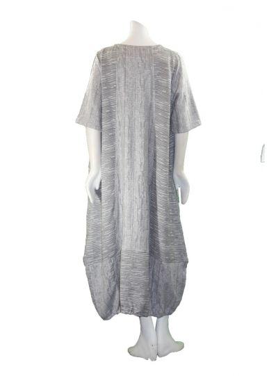 Prisa Grey 2 Pocket Button Dress 3320C