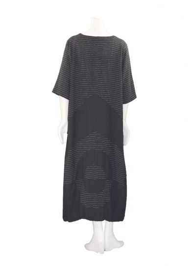 Prisa Black 2 Pocket Pullover Dress 3323C