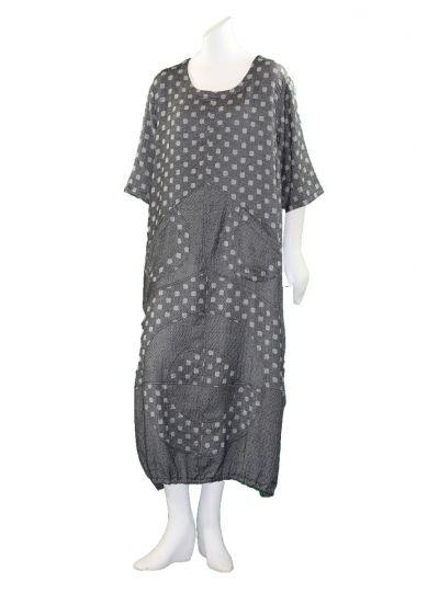 Prisa Grey Square Dot 2 Pocket Pullover Dress 3323C