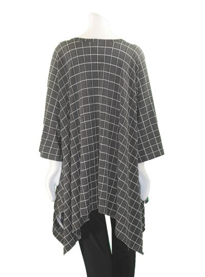 Ralston Black/Grey Over Sized One Pocket Long Tunic 54038