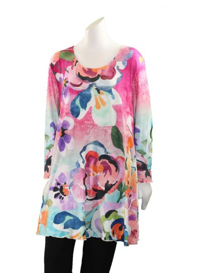 Amma Plus Size Adaphan Printed Pullover Tunic 592-2NJ