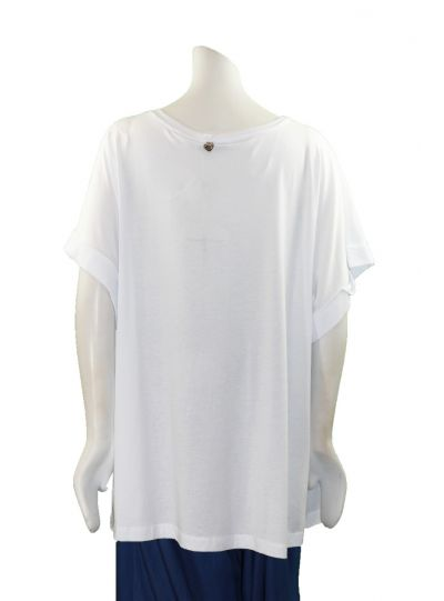 Mat Fashion Plus Size White Lettered Tee 711.1109