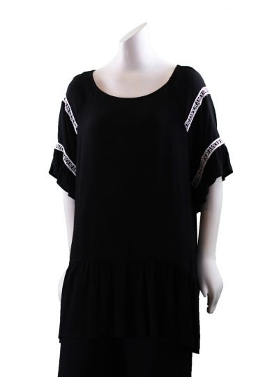 Mat Fashion Plus Size Black/White Amour Tunic 711.1001
